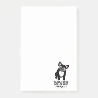 Sprechen Sie die französische niedliche Bulldogge Post-it Klebezettel
