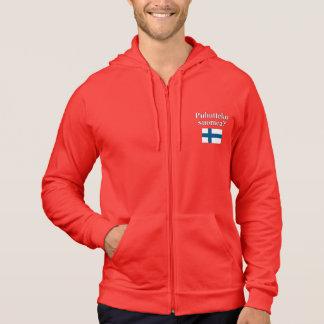 Sprechen Sie finnisches? auf finnisch. Flagge Hoodie