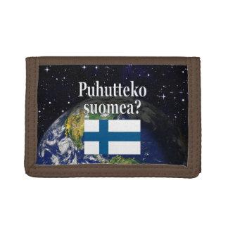 Sprechen Sie finnisches? auf finnisch. Flagge u.