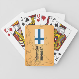 Sprechen Sie finnisches? auf finnisch. Flaggen-BF Spielkarten