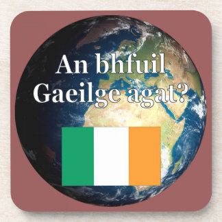 Sprechen Sie Iren? auf Iren. Flagge u. Erde Getränkeuntersetzer