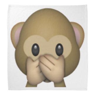 Sprechen Sie keinen schlechten Affen - Emoji Kopftuch