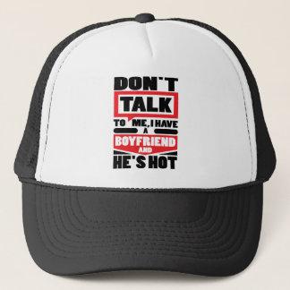 Sprechen Sie nicht mit mir, den ich einen Freund Truckerkappe