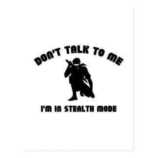 Sprechen Sie nicht mit mir. Ich bin im Postkarte