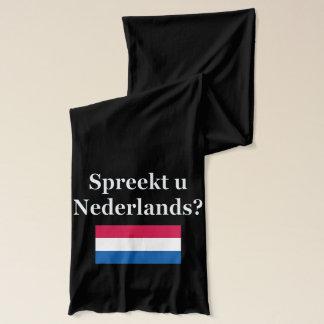Sprechen Sie Niederländisch? auf Holländer. Flagge Schal