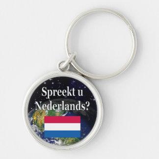 Sprechen Sie Niederländisch? auf Holländer. Flagge Schlüsselanhänger