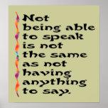 Sprechen Sie Plakat