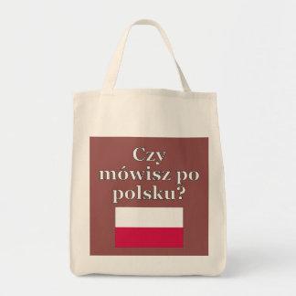Sprechen Sie Polnisches? auf Polnisch. Flagge Tragetasche