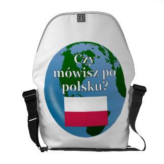 Sprechen Sie Polnisches? auf Polnisch. Flagge u. Kuriertasche