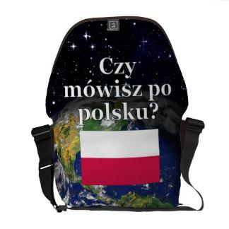 Sprechen Sie Polnisches? auf Polnisch. Flagge u. Kuriertaschen