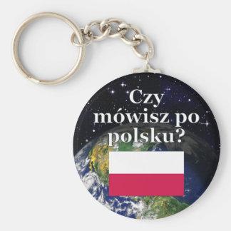 Sprechen Sie Polnisches? auf Polnisch. Flagge u. Schlüsselanhänger