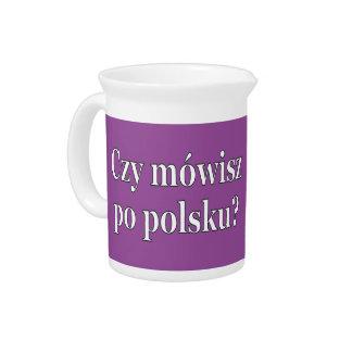Sprechen Sie Polnisches? auf Polnisch. Flagge wf Getränke Pitcher