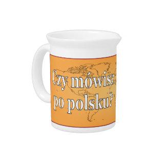 Sprechen Sie Polnisches? auf Polnisch. Flagge wf Krug
