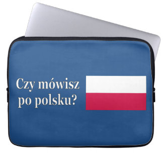 Sprechen Sie Polnisches? auf Polnisch. Flagge wf Laptop Sleeve