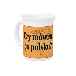 Sprechen Sie Polnisches? auf Polnisch. Flaggen-BF Getränke Pitcher