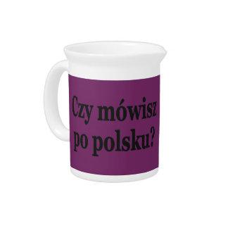 Sprechen Sie Polnisches? auf Polnisch. Flaggen-BF Krug