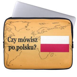 Sprechen Sie Polnisches? auf Polnisch. Flaggen-BF Laptop Sleeve