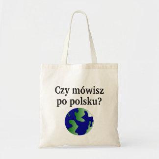 Sprechen Sie Polnisches? auf Polnisch. Mit Kugel Tragetasche