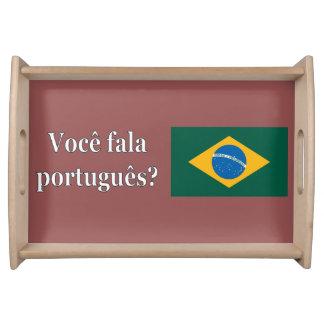 Sprechen Sie Portugiesen? auf portugiesisch. Tablett