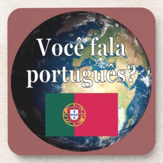 Sprechen Sie Portugiesen? Portugiesisch. Flagge u. Untersetzer