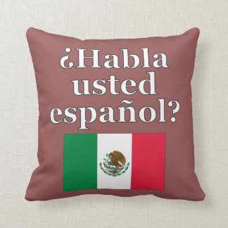 Sprechen Sie Spanischen? auf spanisch. Flagge Kissen