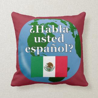 Sprechen Sie Spanischen? auf spanisch. Flagge u. Kissen