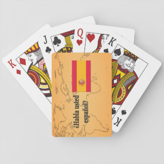 Sprechen Sie Spanischen? auf spanisch. Flaggen-BF Spielkarten