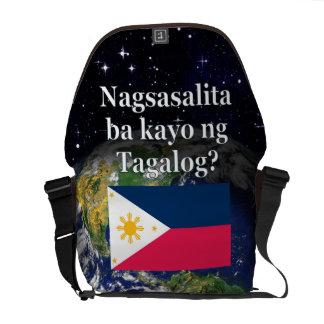 Sprechen Sie Tagalog? auf Tagalog. Flagge u. Erde Kuriertaschen