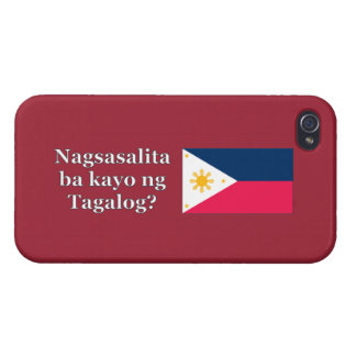 Sprechen Sie Tagalog? auf Tagalog. Flagge wf iPhone 4 Cover