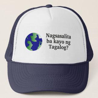 Sprechen Sie Tagalog? auf Tagalog.  Mit Kugel Truckerkappe