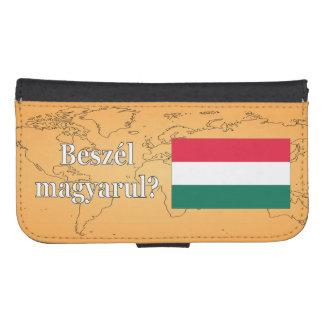 Sprechen Sie Ungarn? auf Ungarn. Flagge wf Galaxy S4 Geldbeutel Hülle