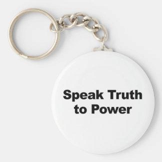 Sprechen Sie Wahrheit mit Power Schlüsselanhänger