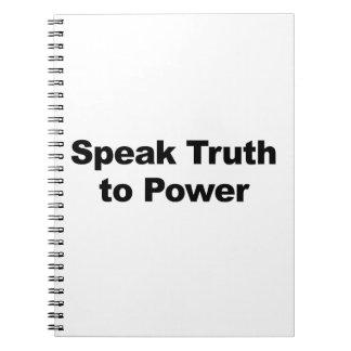 Sprechen Sie Wahrheit mit Power Spiral Notizblock