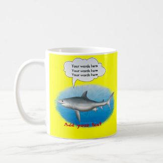 Sprechenhaifisch-Schablone Kaffeetasse
