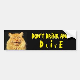 Sprechenkatze sagt trinken nicht und DIE (Antrieb) Autoaufkleber