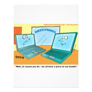 Sprechenlaptop-Computer Cartoon Flyer