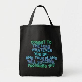 Sprichwort-16:3 Einkaufstasche