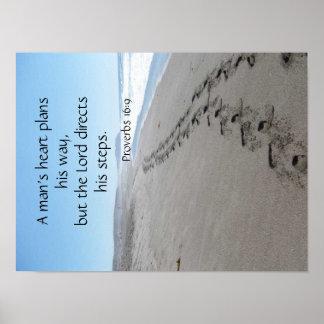 Sprichwort-16:9 gesegnetes Schritt-Plakat Poster