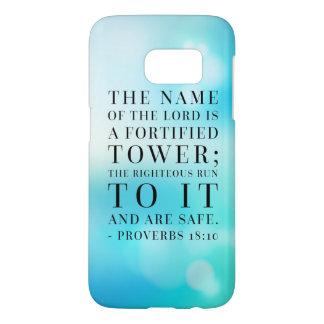 Sprichwort-18:10 Bibel-Zitat