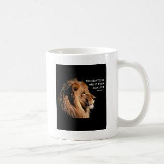 Sprichwort-28:1 Kaffeetasse