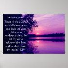 Sprichwort-3:5 - 6 Sonnenuntergang Plakat