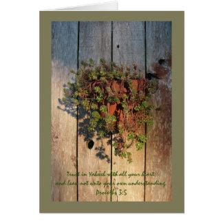 Sprichwort-3:5 auf Succulents Karte