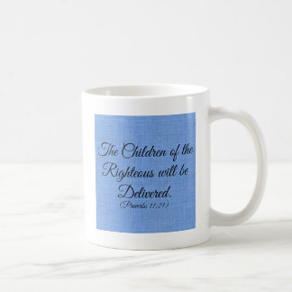 Sprichwort-Bibel-Vers die Kinder von dem Kaffeetasse