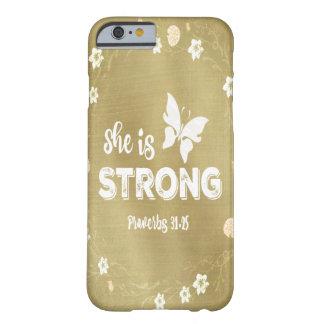 Sprichwörter ist sie starkes Gold Barely There iPhone 6 Hülle