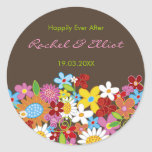 Spring Flowers Garden Whimsical Wedding Favors Stickers