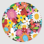 Spring Flowers Save-the-Date / Gift Sticker
