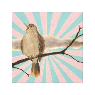 Spring - Nightingale by Kreativlaube Leinwanddruck
