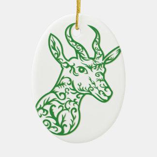 Springbock-Hauptpapier-Schnitt Keramik Ornament