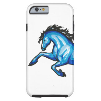 Springen blauen PferdiPhone 6/6s Kastens Tough iPhone 6 Hülle