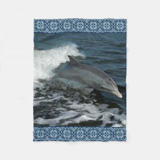 Springen der Delphin-Malerei Fleecedecke
